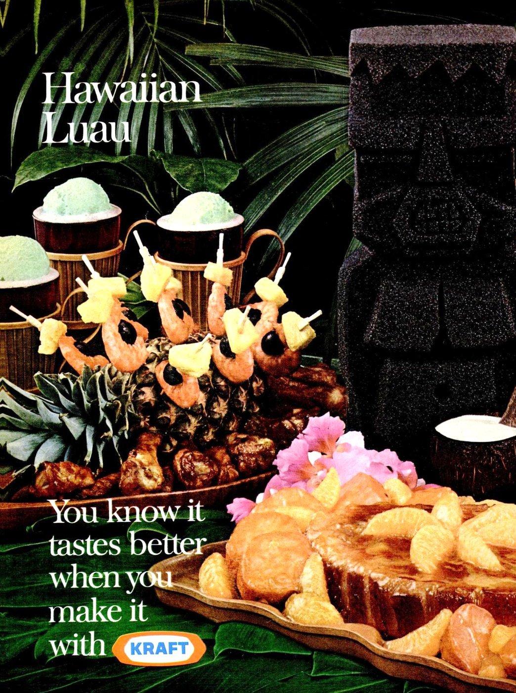 1970 Hawaiian luau food