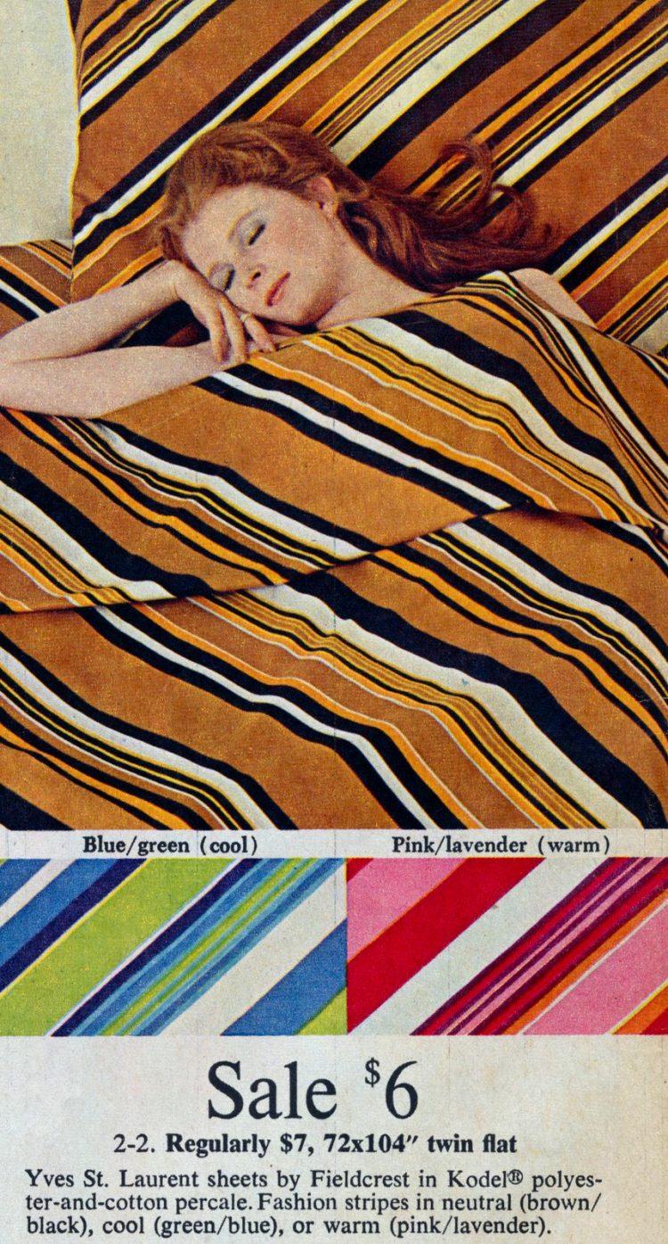 1970 Yves St Laurent designer sheets
