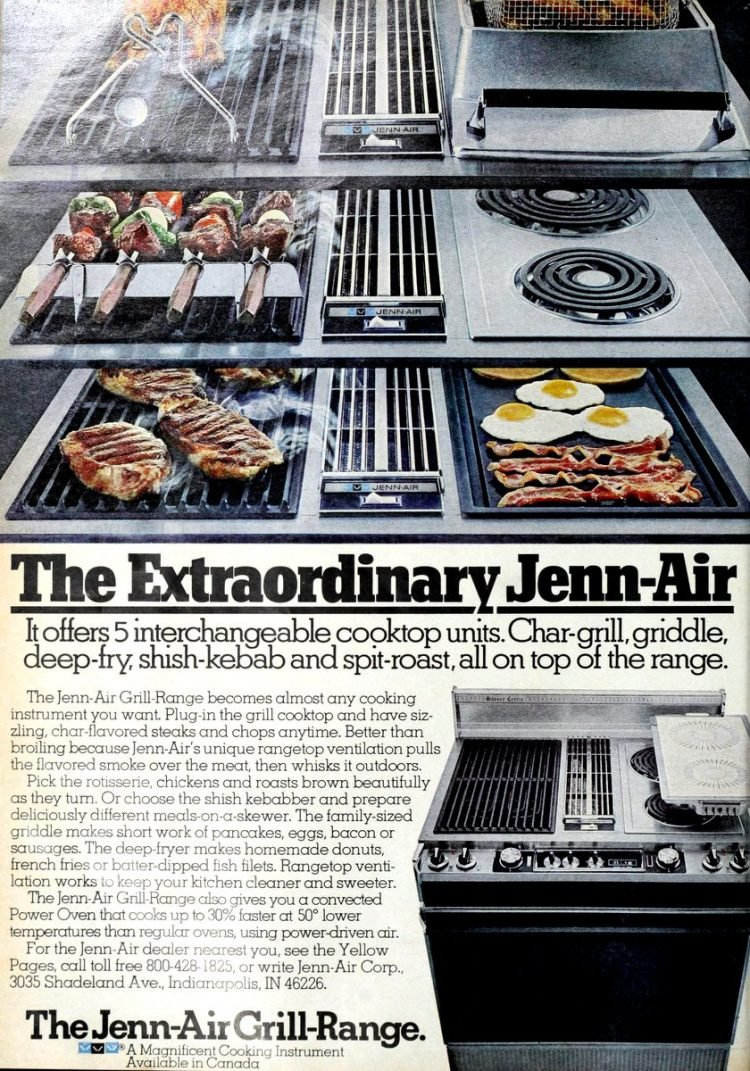 1970s Jenn-Air range vintage kitchen design ideas