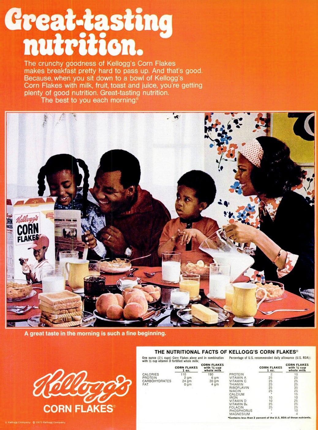 1970s Kellogg's Corn Flakes cereal (1977)