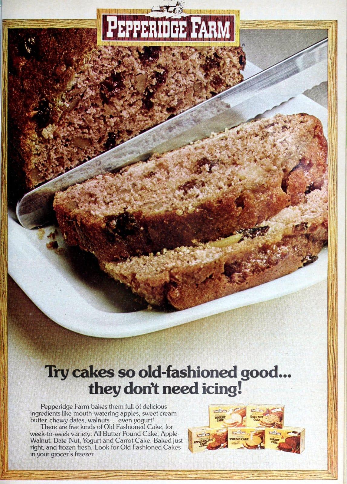 1970s Pepperidge Farm old-fashioned cakes (1979)