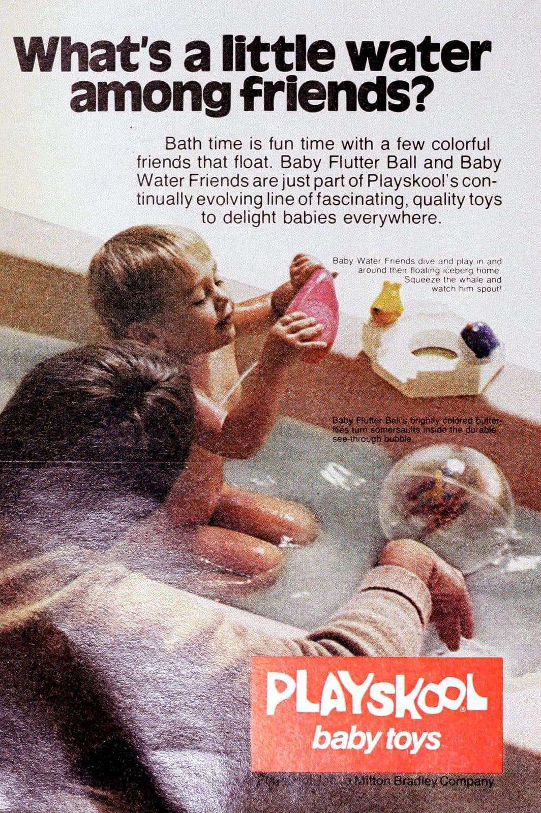 1970s Playskool baby bath toys (1978)