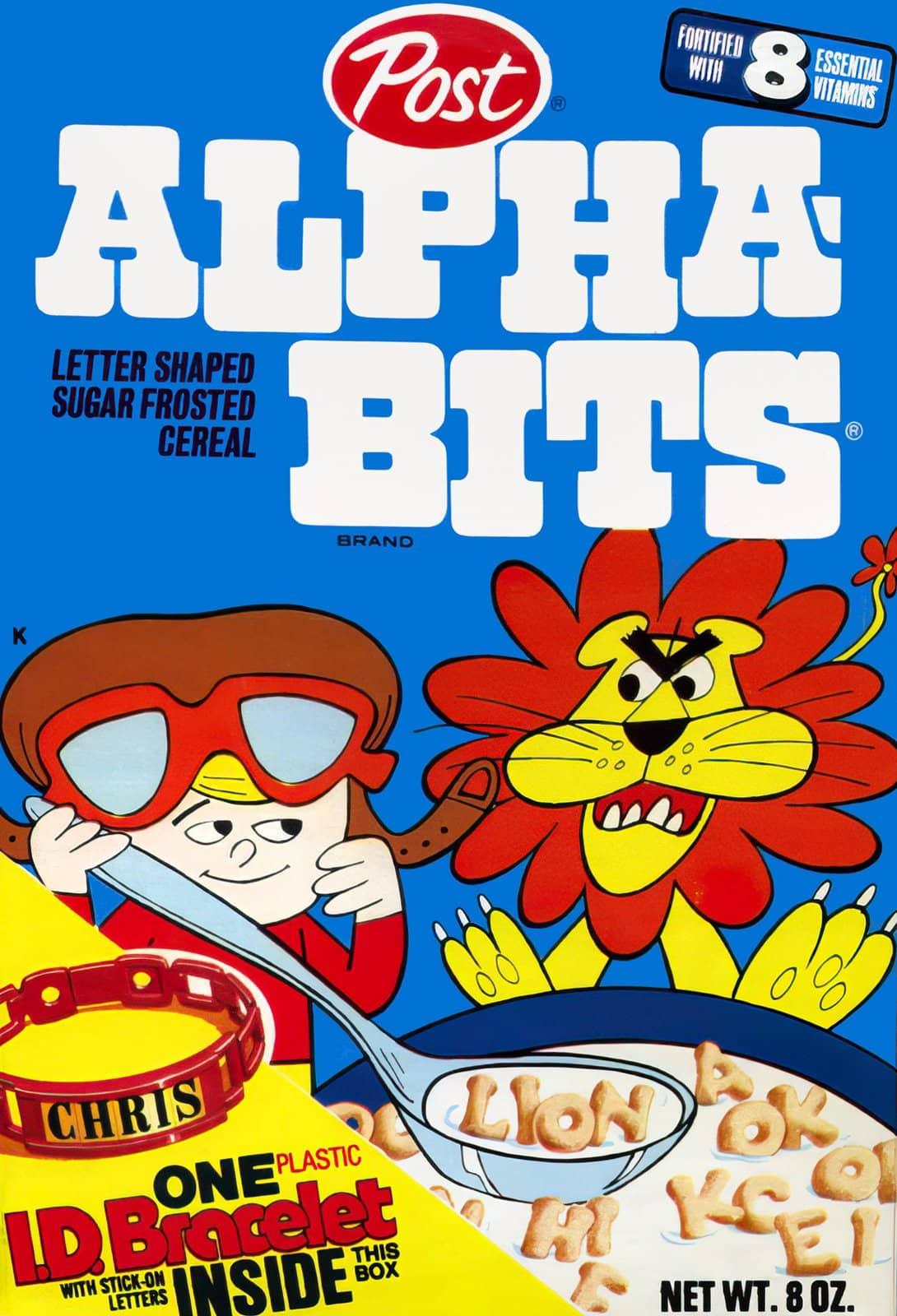 1970s Post Alpha Bits cereal box front