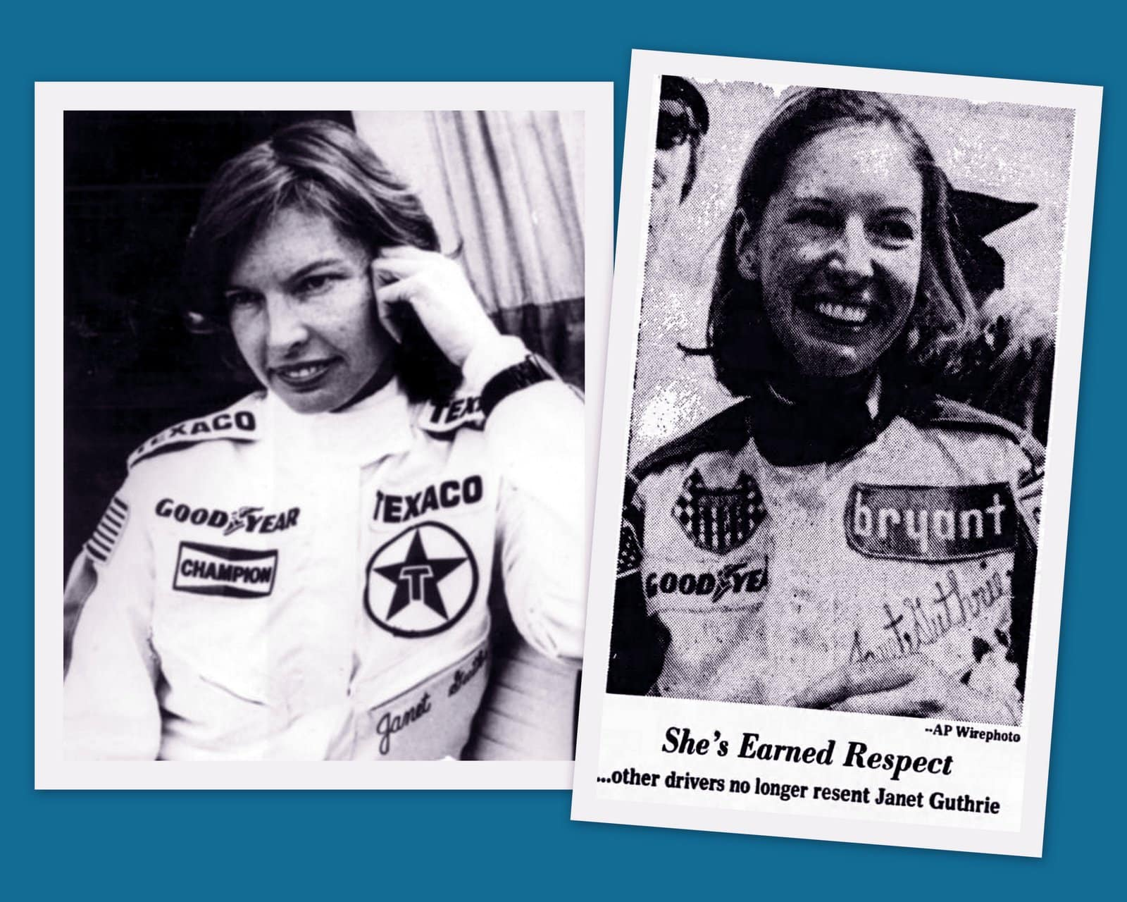 1970s Race car driver Janet Guthrie