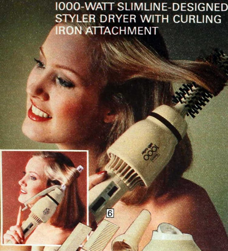 1970s hair styler-dryer