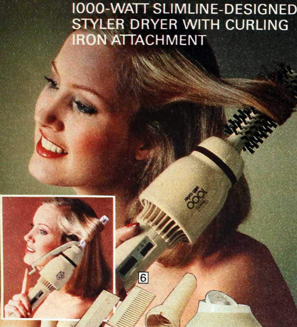 1970s hair styler-dryer