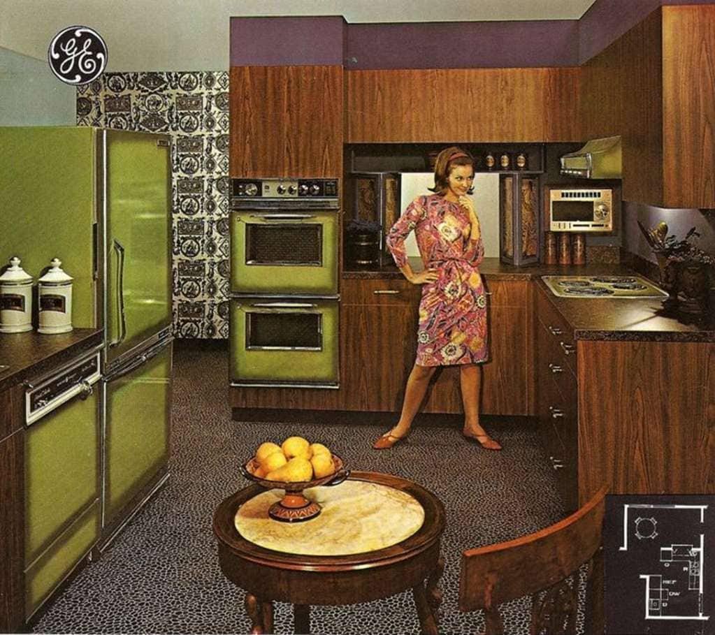1970s kitchen in avocado