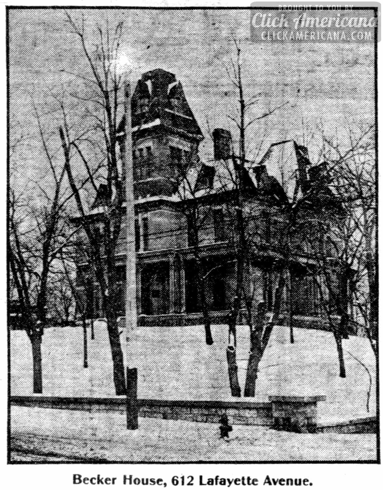 Mansard roof homes in St Paul, Minnesota (1904)