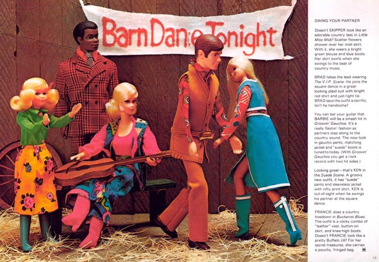 1971 Barbie and friends go country