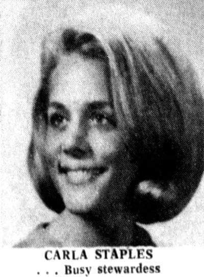 1971 - Carla Staples - Busy airline stewardess