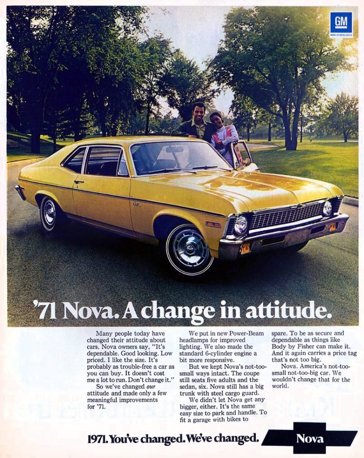 1971 Chevrolet Nova - Classic cars