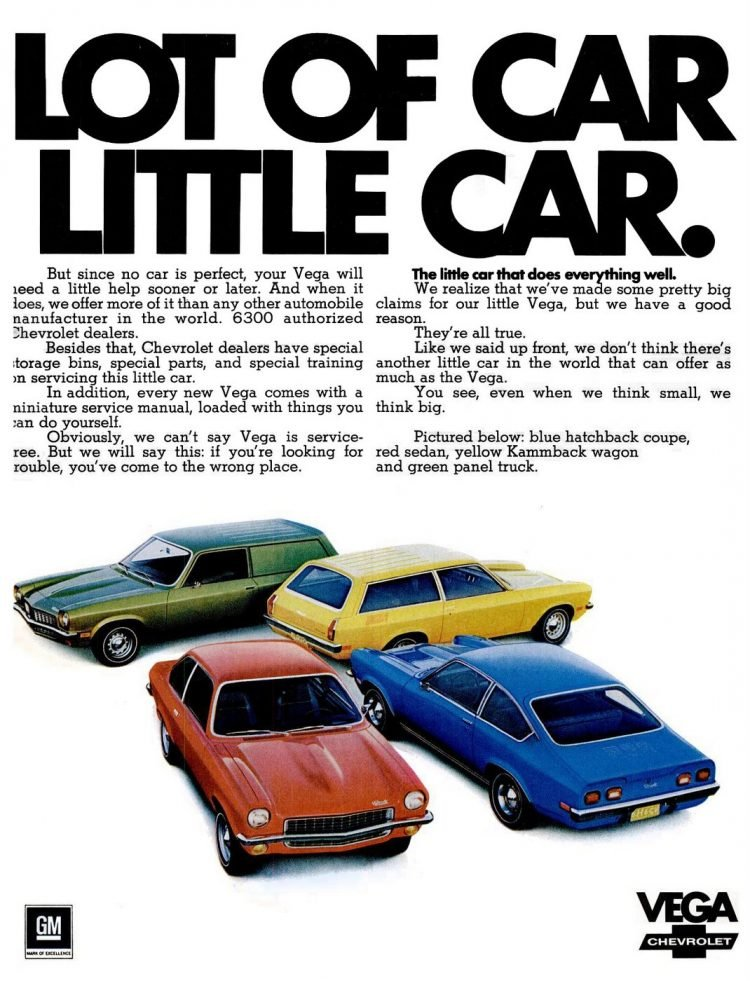 1971 Chevy Vega - Lot of little car