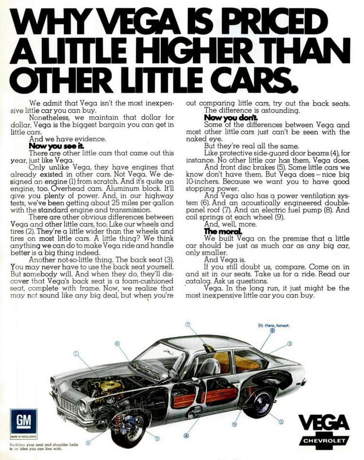 1971 Chevy Vega price
