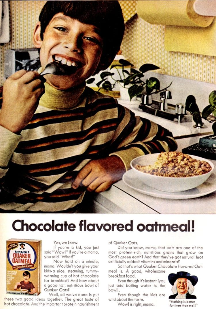 1971 Chocolate oatmeal - Quaker Oats