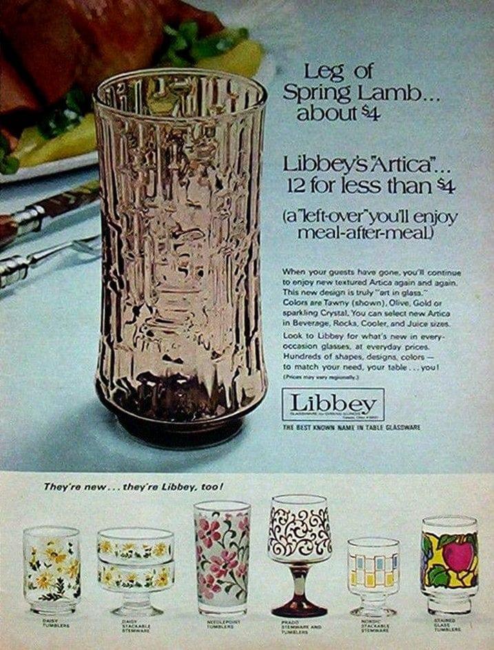1971 Libbey Glasses for Easter