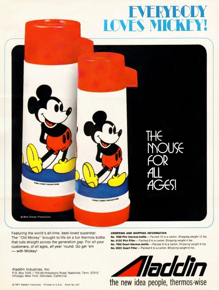 1971 Mickey Mouse thermos