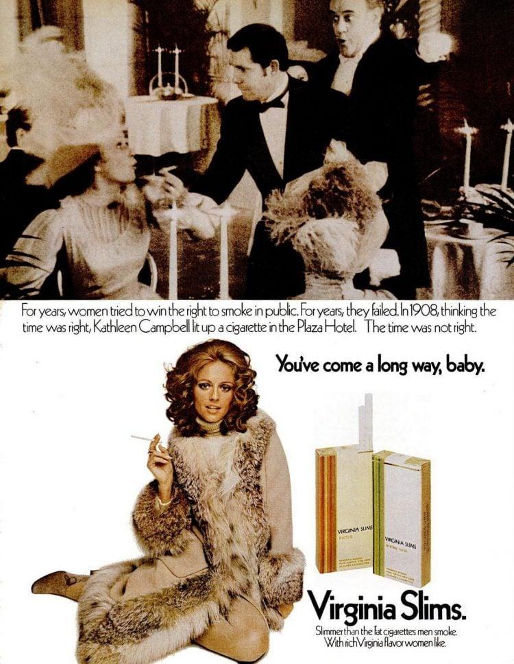 1971 Virginia Slims - Women and cigarettes 1908