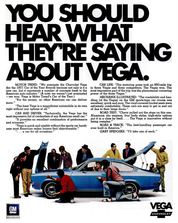 1971 What they're saying about Chevy Vega cars