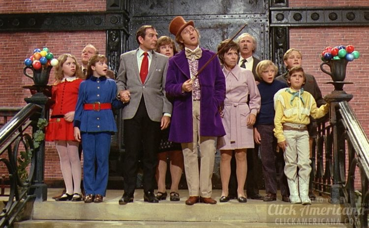 1971 Willy Wonka and the Chocolate Factory cast