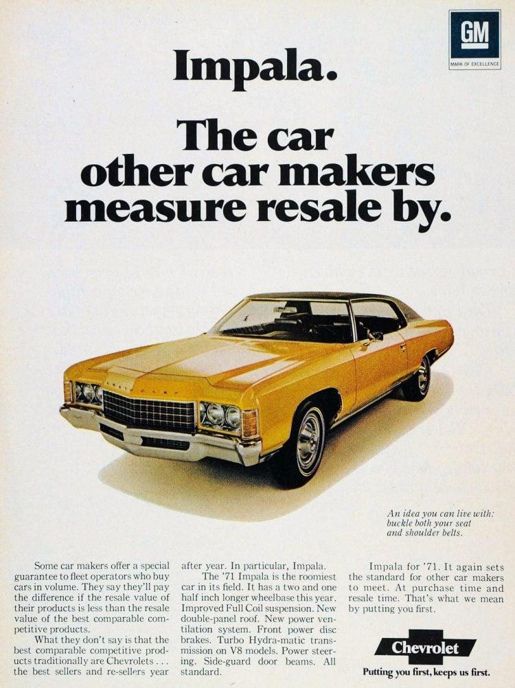 1971 classic car - Chevrolet Impala Turbo Hydra-matic V8