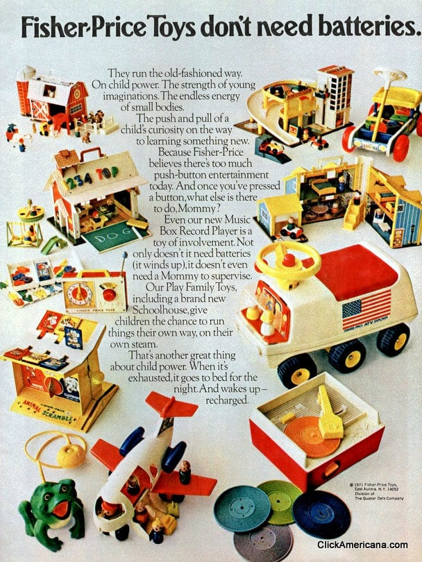 Fisher-Price Toys don't need batteries