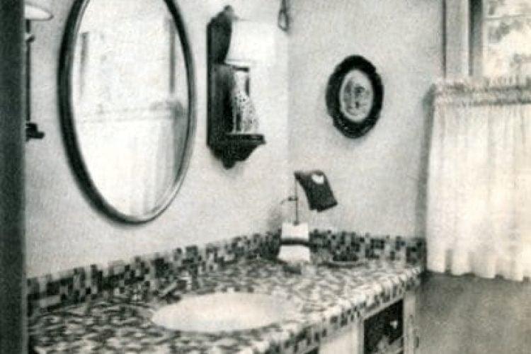 Banner Retro Bathroom Decor 1971