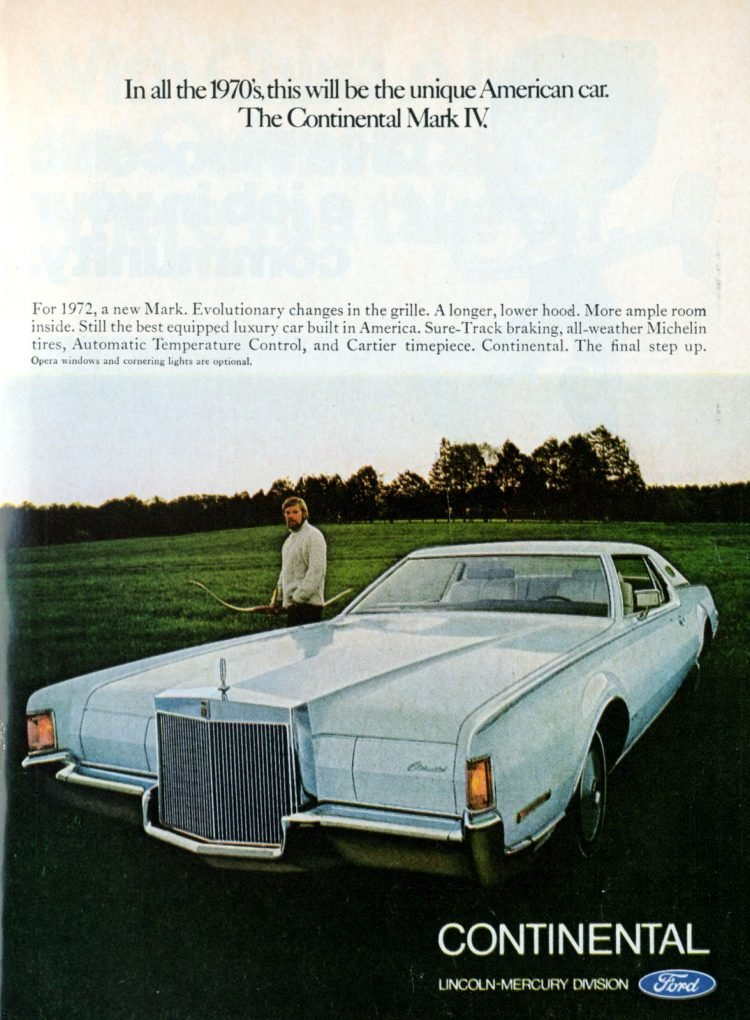 1972 Lincoln Continental Mark IV - Ford cars