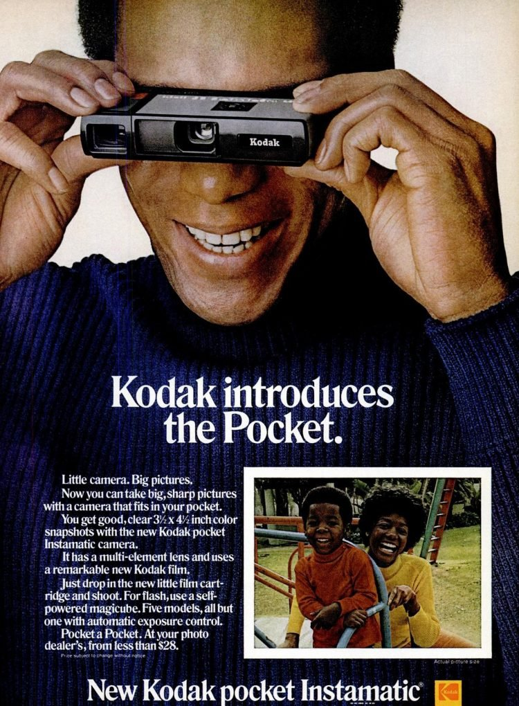 1972 - New Kodak Pocket Instamatic 110 camera