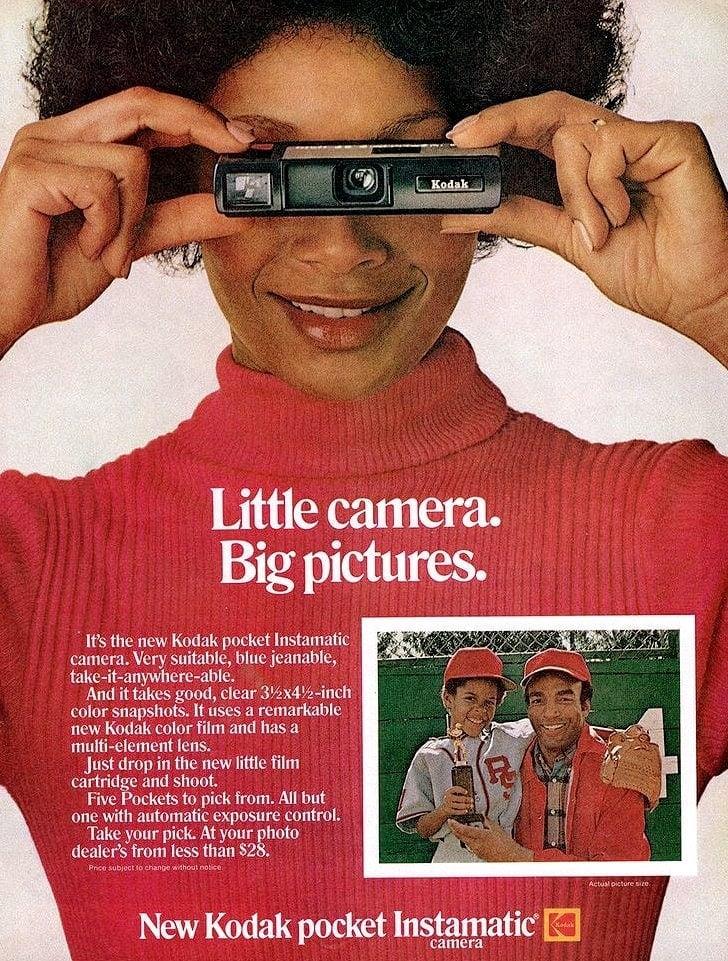 1972 Pocket Instamatic camera 110