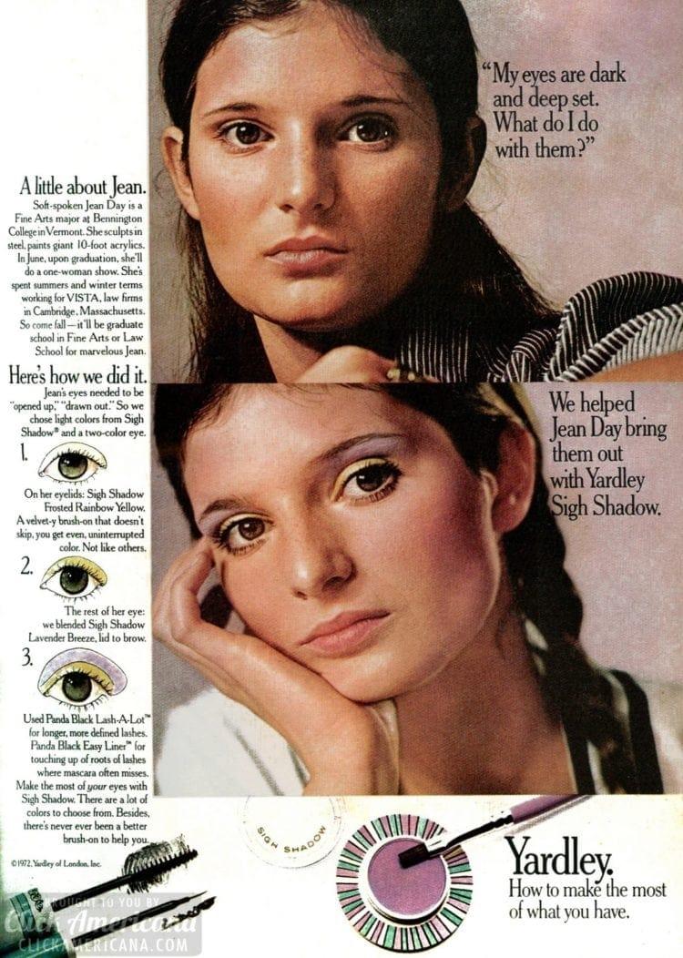 1972 Purple eye shadow - Yardley