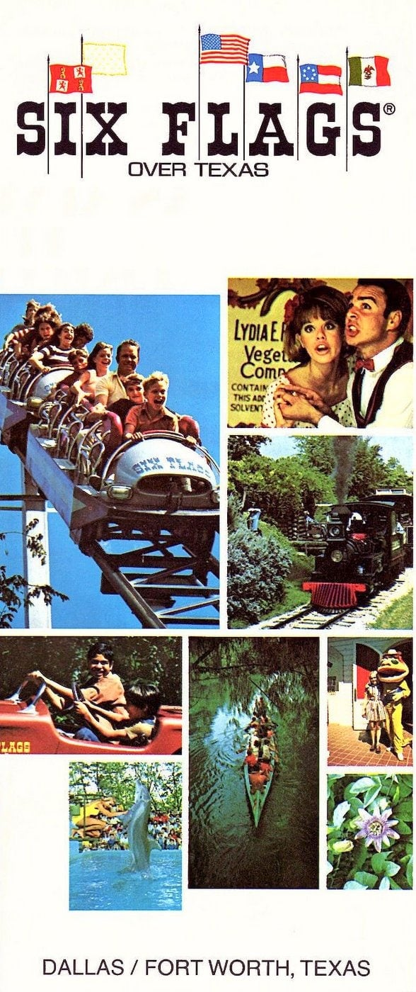 1972 brochure from Six Flags over Texas