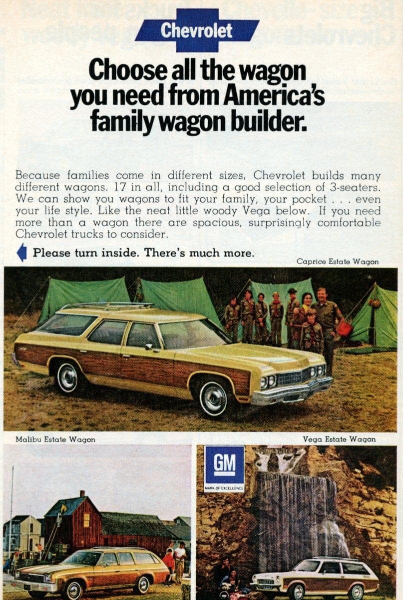 1973 Chevy Caprice Estate Wagon, Malibu Estate Wagon, Vega Estate Wagon
