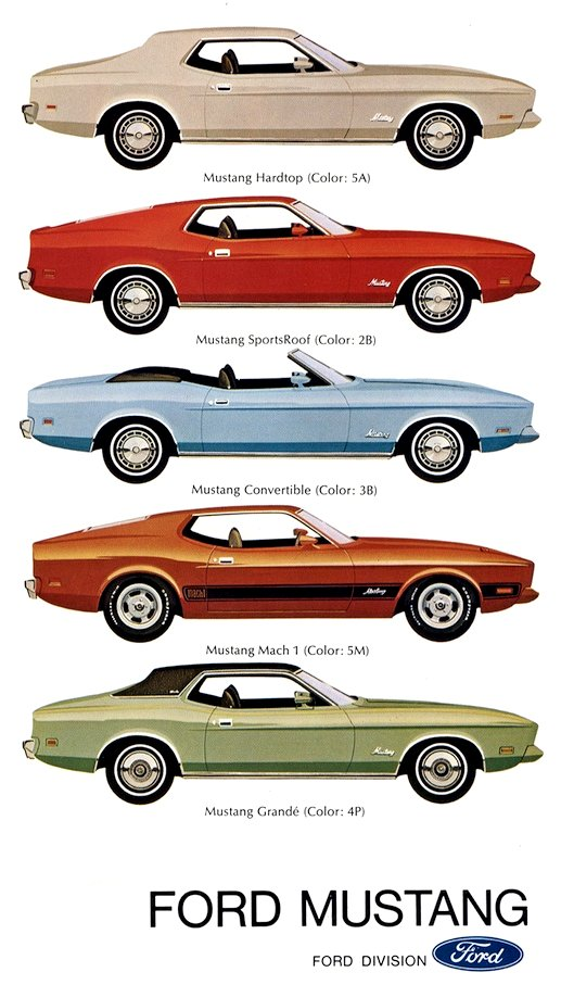 1973 Ford Mustang models
