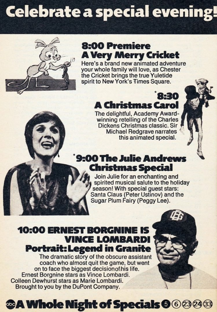 1973 TV Guide vintage Christmas - A Whole Night of Specials
