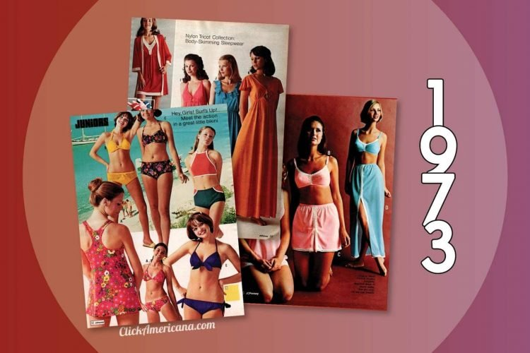 Swimwear, sleepwear & lingerie from the 1973 JC Penney catalog