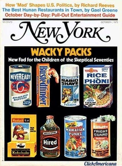Wacky Packs on New York magazine (1973)