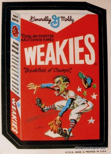 Generally Moldy Weakies cereal