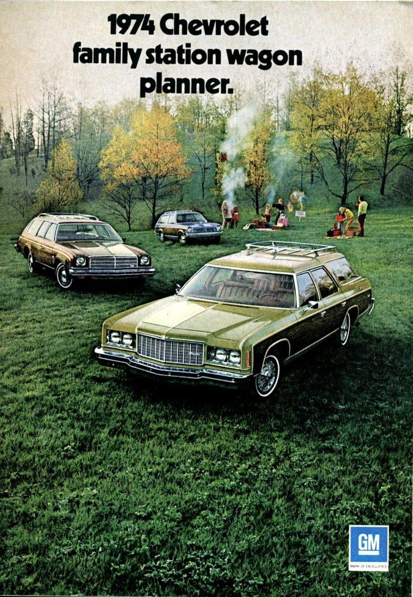 1974 Chevrolet family station wagon planner