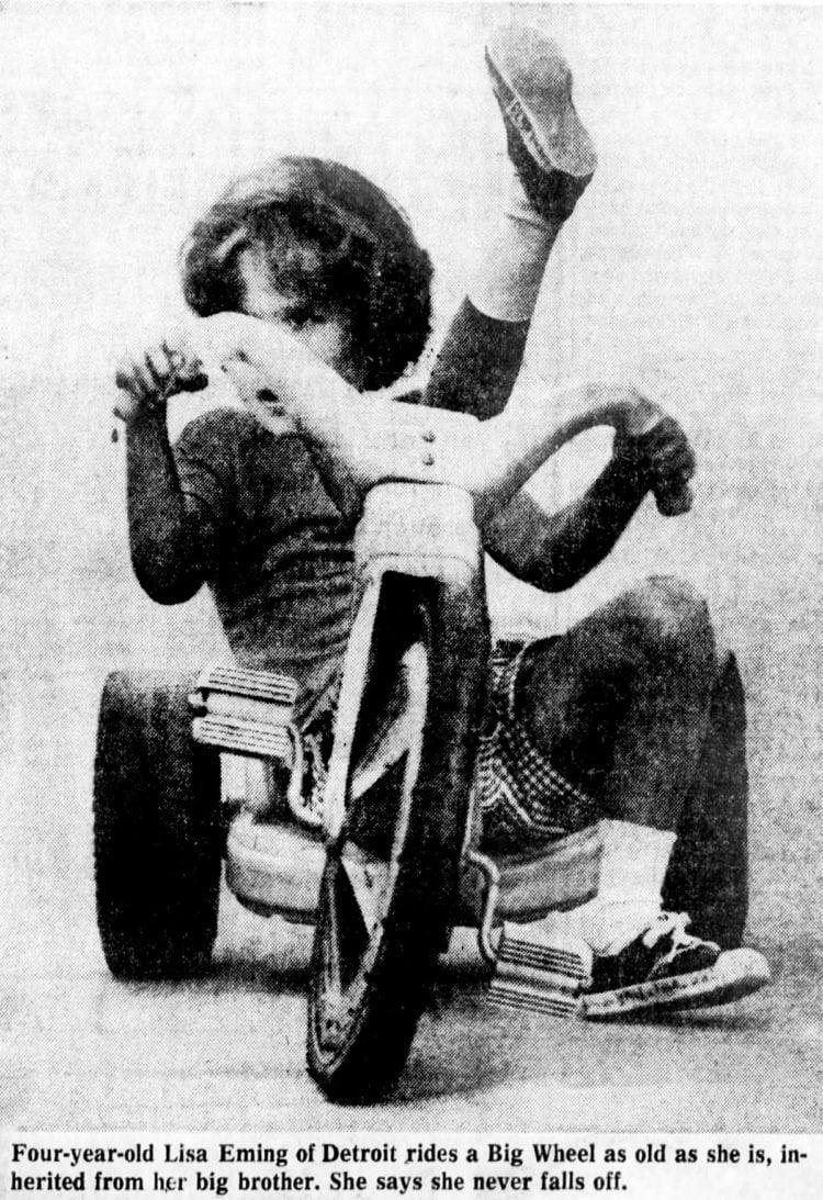 1974 Girl riding a Big Wheel