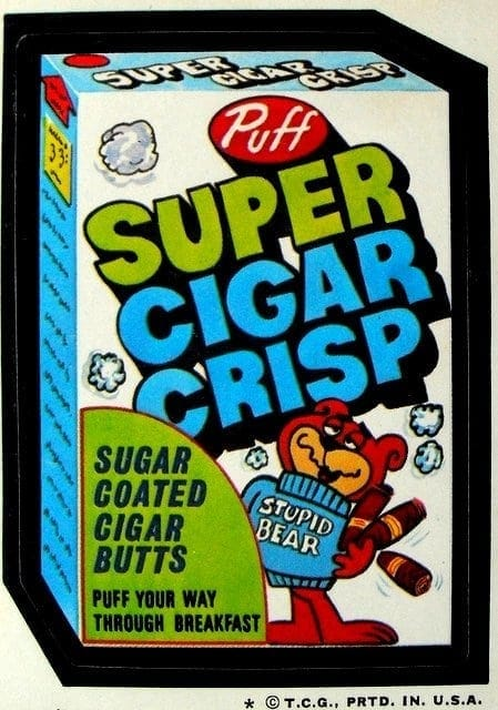 1974 Topps Wacky Packages Super Cigar Crisp