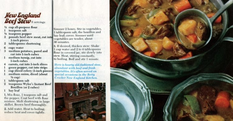 New England beef stew (1974)