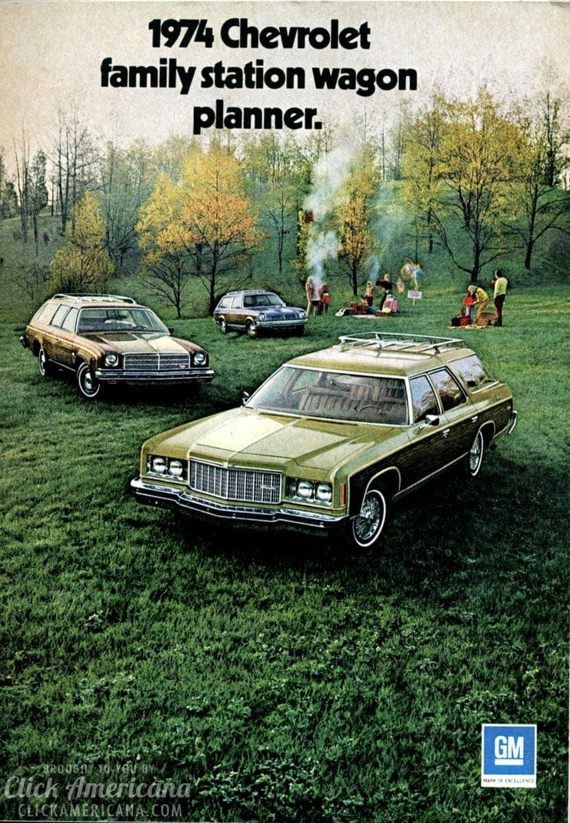 1974 Chevrolet family station wagon planner - Click Americana