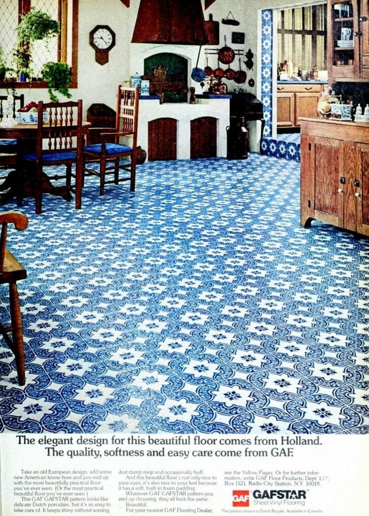 1975 Dutch flooring design for kitchen