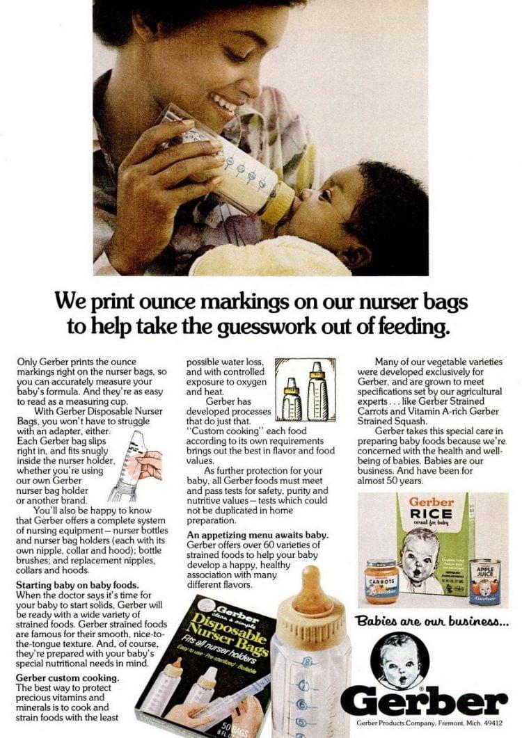 1975 Gerber nurser - Baby bottles
