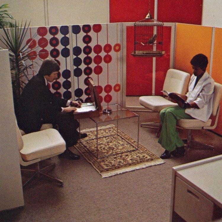 Vintage office reception area