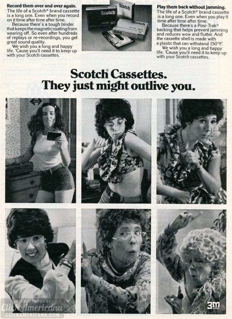 1976 - Scotch cassettes might outlive you