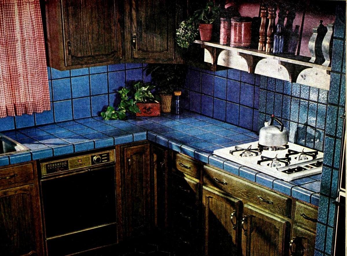 1976 blue kitchen tile