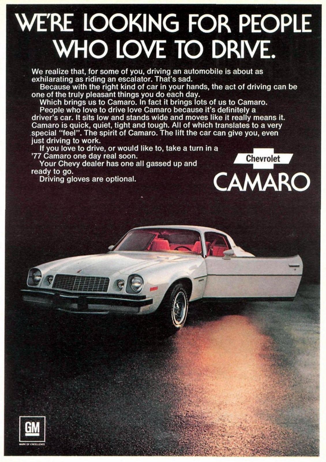 1977 Chevrolet Camaro cars