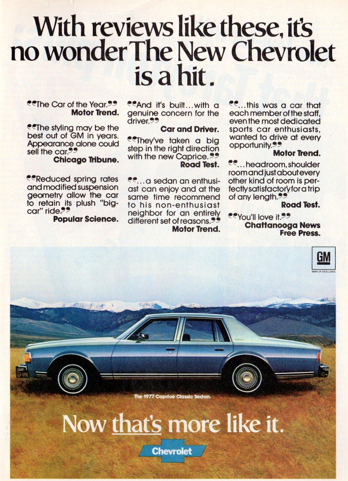 1977 Chevrolet Caprice Classic Sedan car