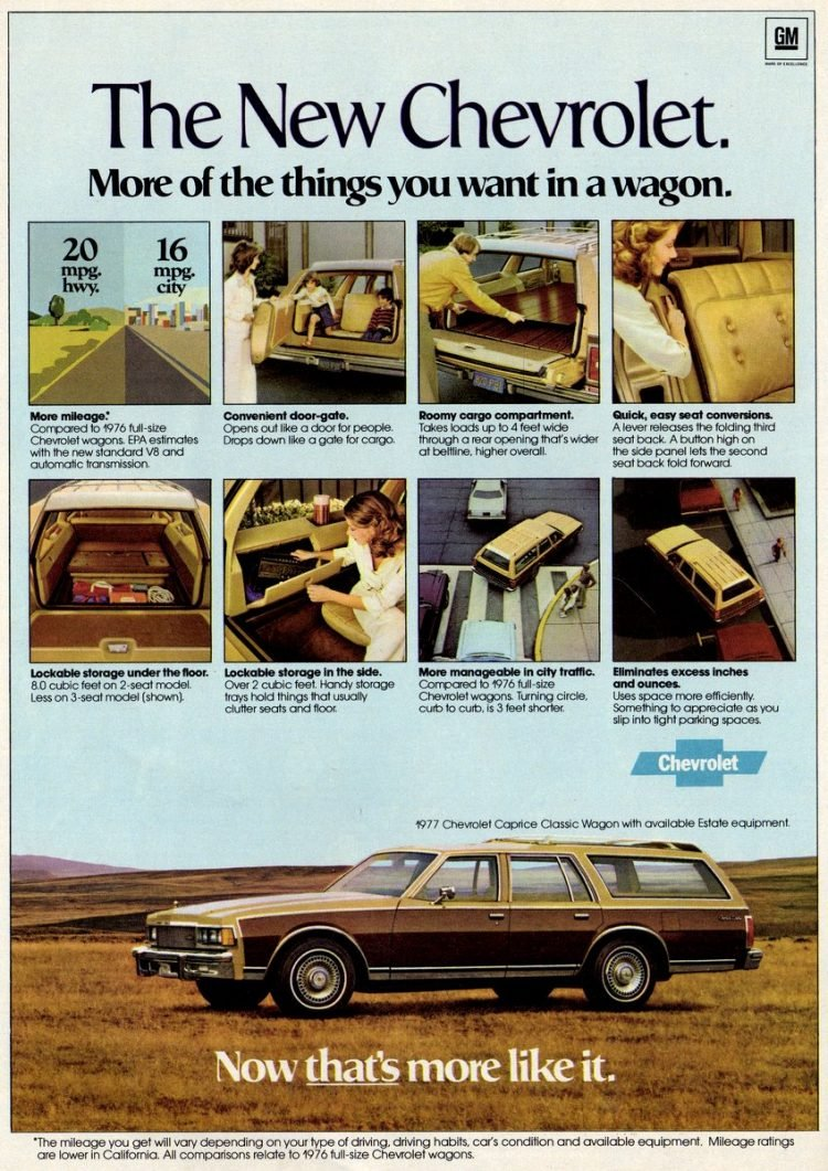 1977 Chevrolet wagons